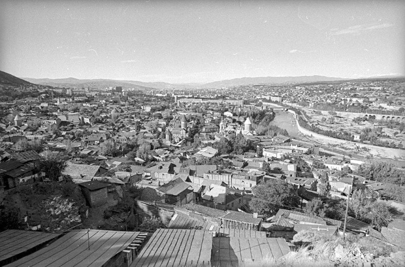 Tbilissi, capitale de la Géorgie, en 1971