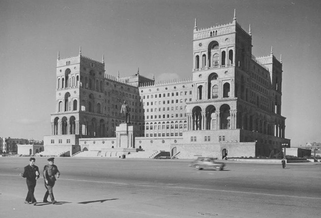 Place Lénine à Bakou, capitale de l'Azerbaïdjan