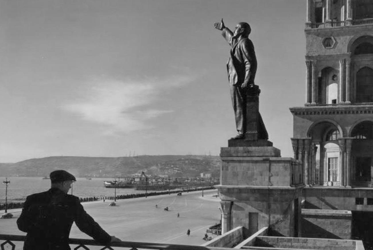 Un monument à Vladimir Lénine en Azerbaïdjan