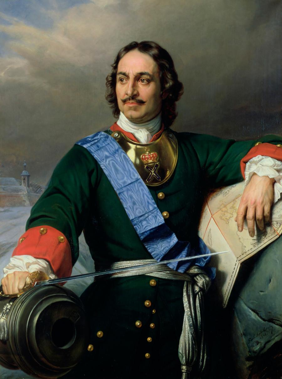 Il ritratto di Pietro I realizzato dal pittore francese Paul Delaroche