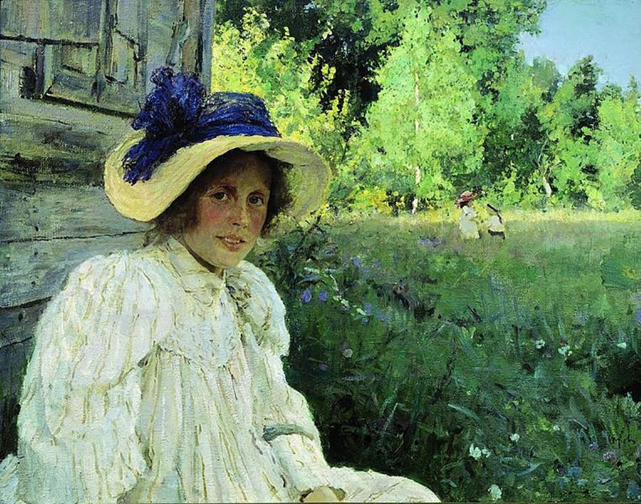 ヴァレンティン・セローフ 夏、オリガ・セローワの肖像画 1895年