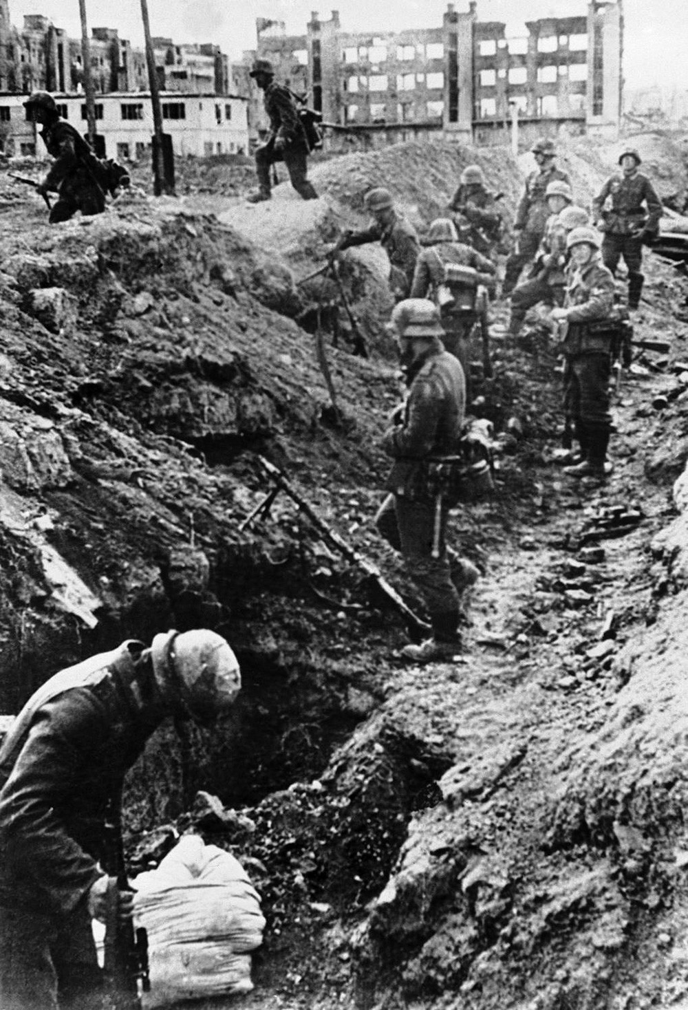 Troupes allemandes à Rjev