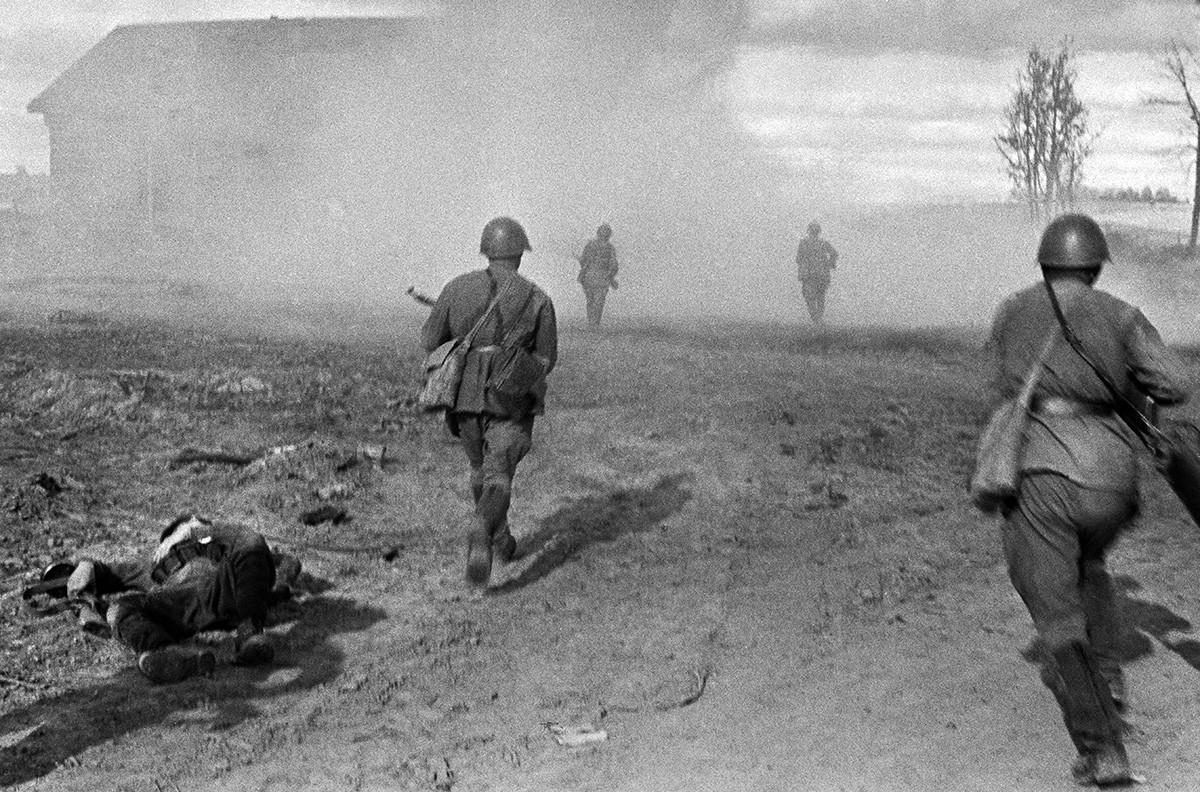 Affrontements près de Rjev en août 1942