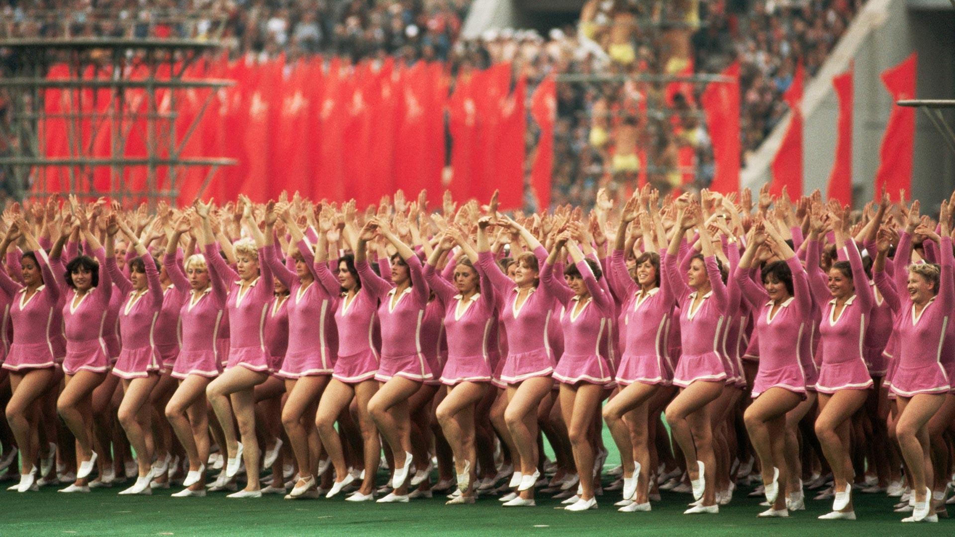 Торжественная церемония открытия XXII Олимпийских игр.