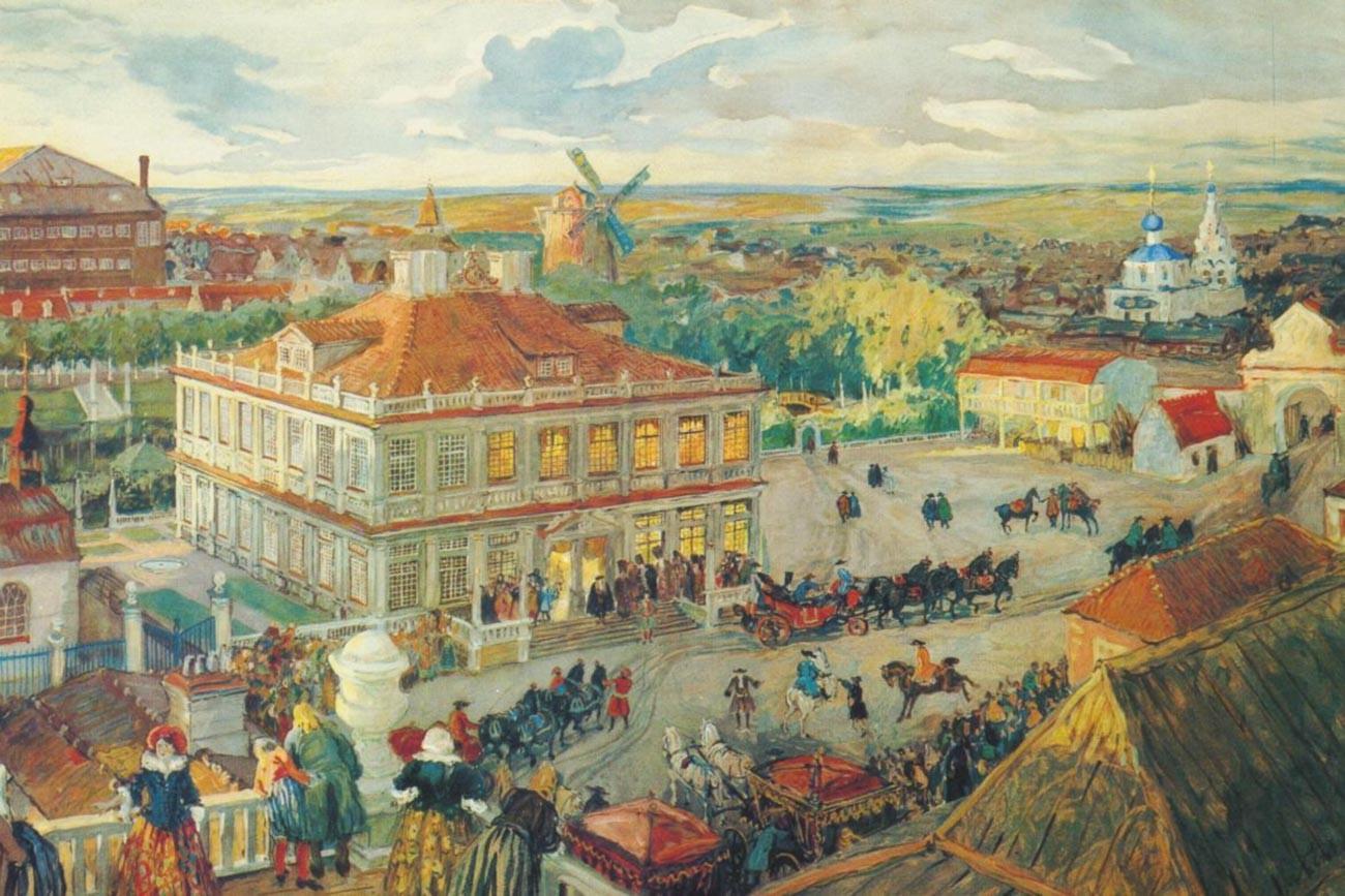 «Дом Анны Монс в Немецкой слободе», Александр Бенуа (1870-1960)