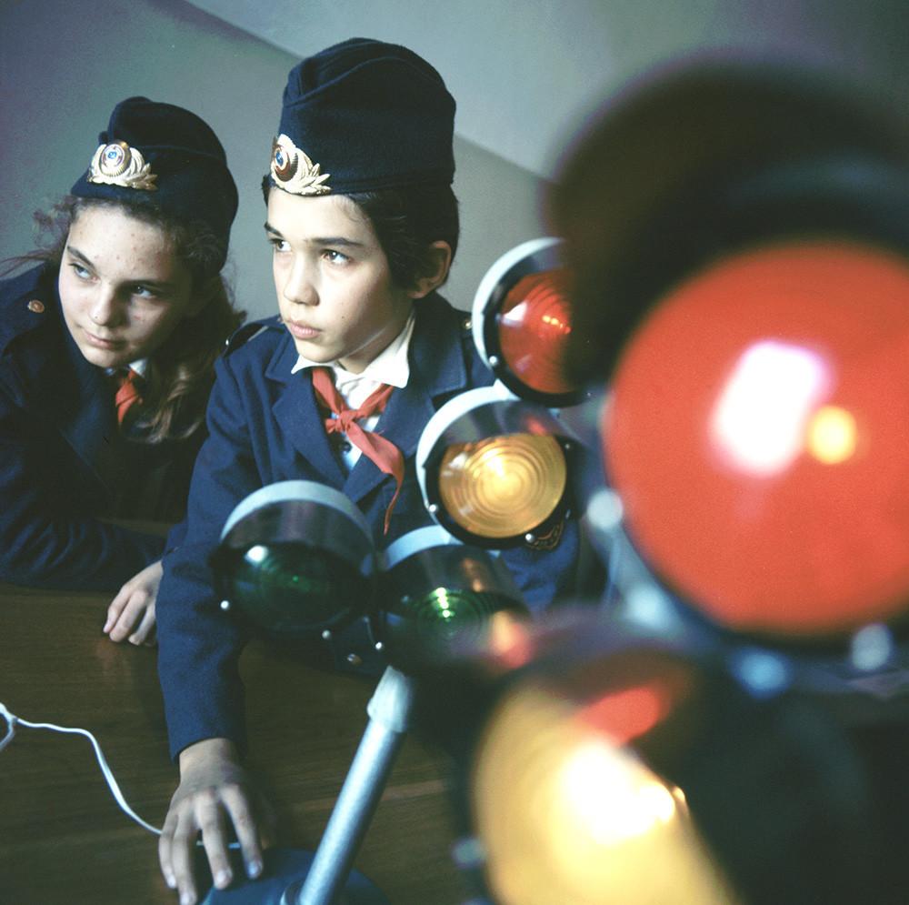 Jovens policiais rodoviários. Tbilisi, 1974.