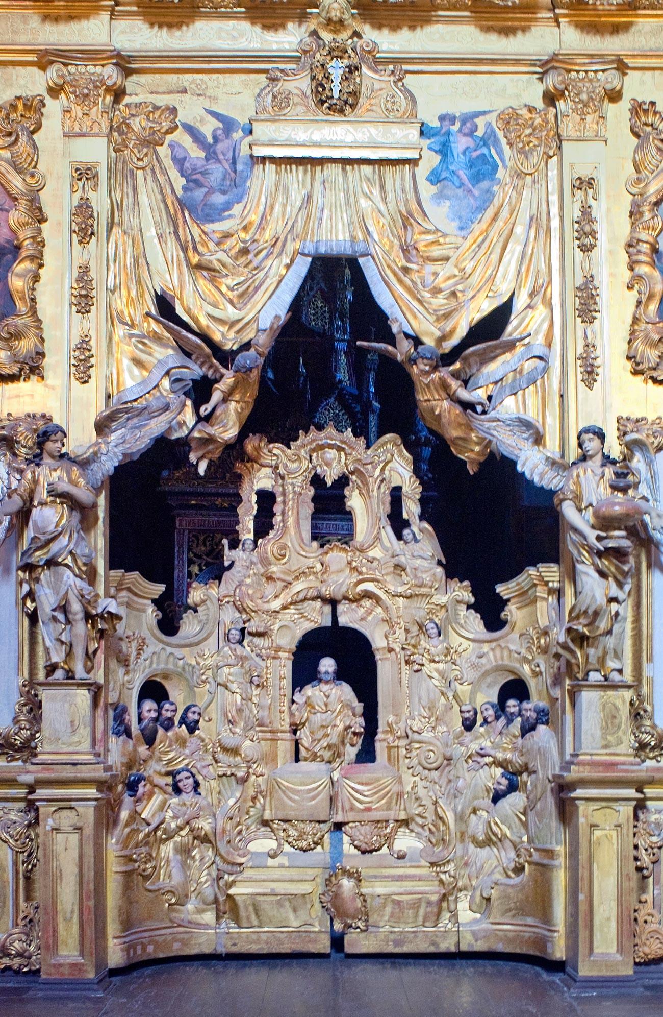 Église Saint-Nicolas NadeïnIconostase, portes royales (entrée vers l'autel).