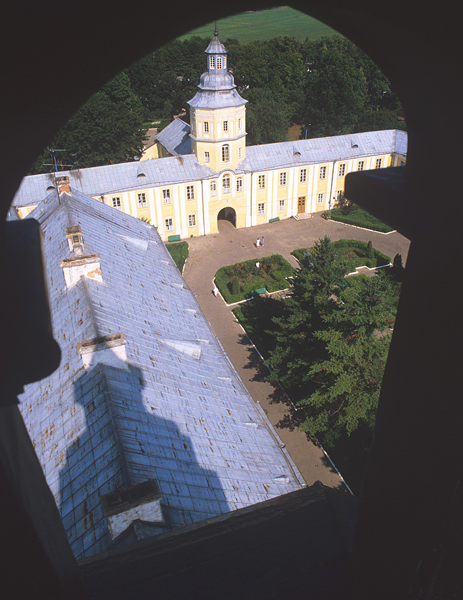 In Soviet times, the 16th-century Nesvizh Castle housed a sanatorium, photo of 1986