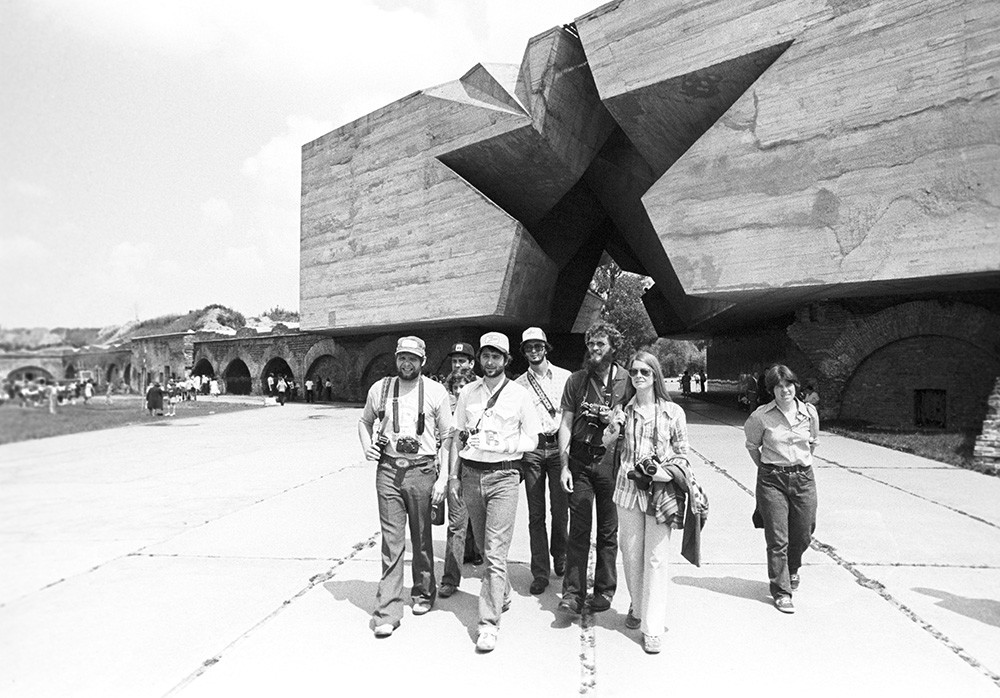 American delegation visiting the Brest Fortress Hero Memorial Complex in the Byelorussian SSR, 1978