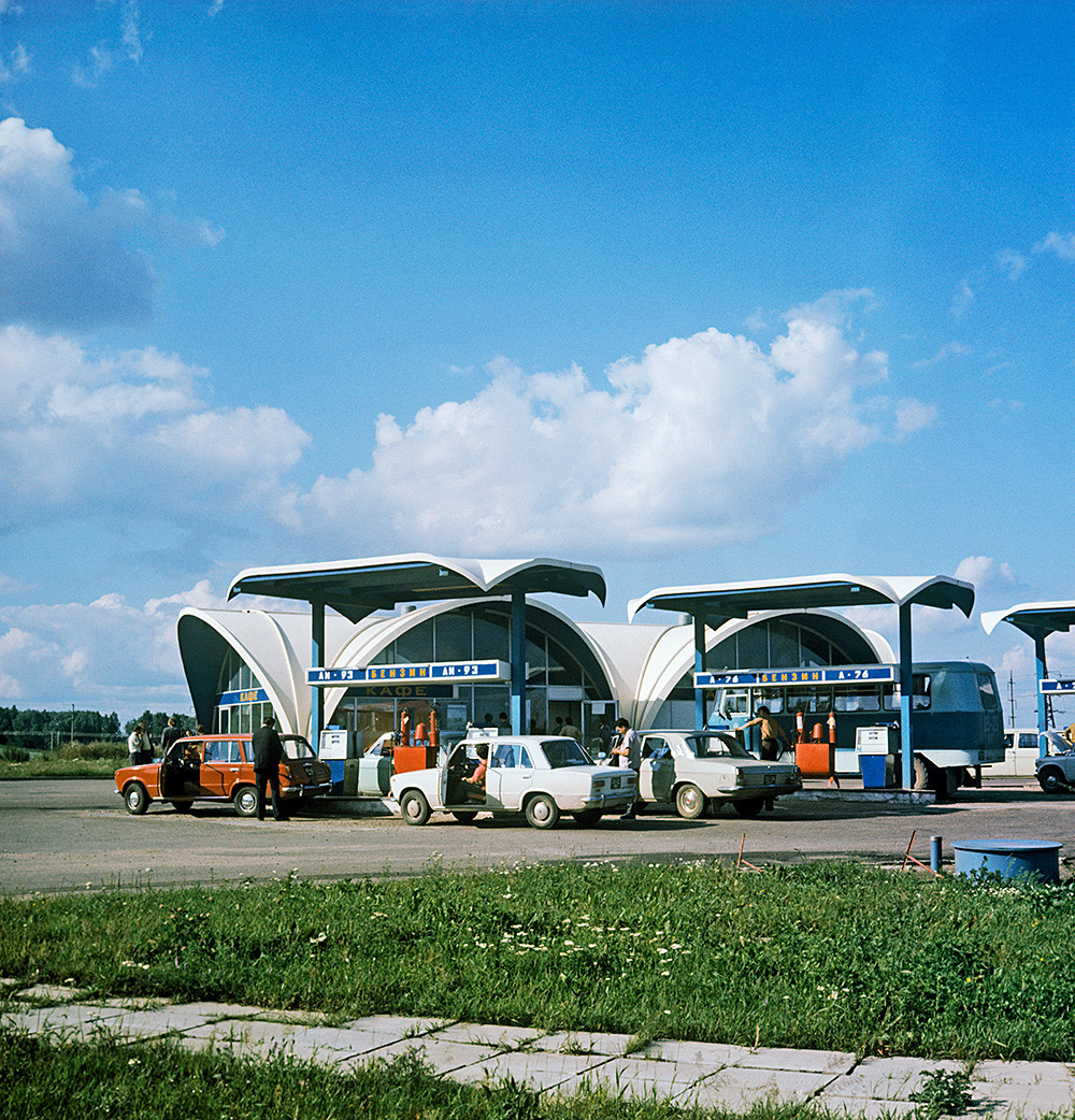 Gas station in Minsk, 1978