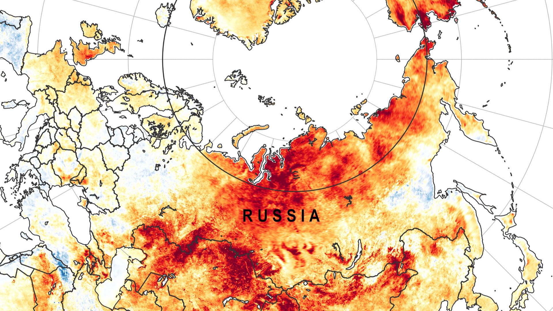 Différences de températures entre les printemps de 2003 et 2018