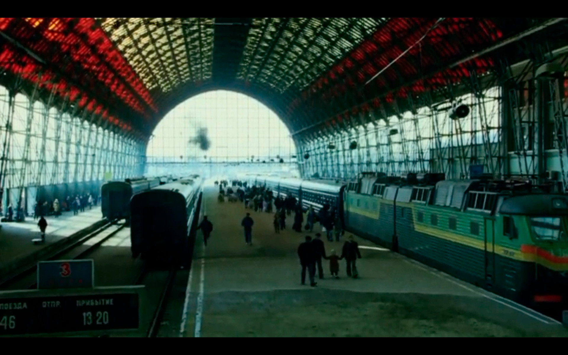 La gare de Kiev de 2014 dans le film Golden Eye