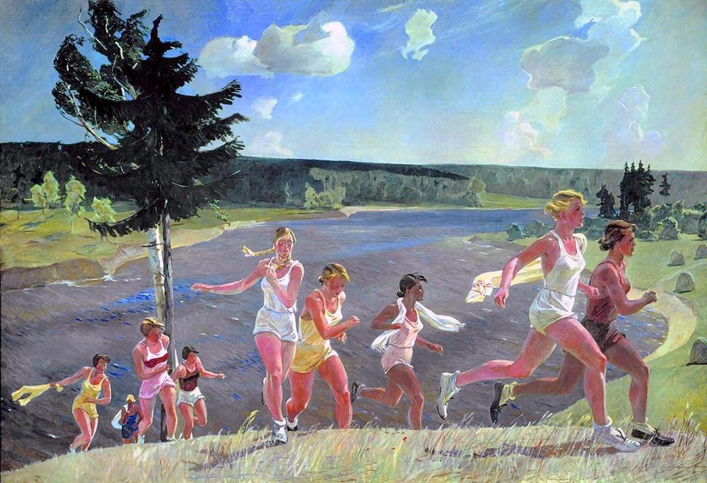 « Pleine liberté », par Alexandre Deïneka, 1944