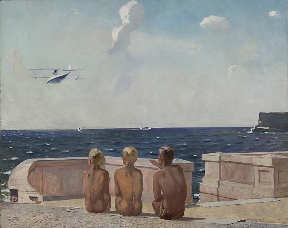 « Futurs pilotes », par Alexandre Deïneka, 1938