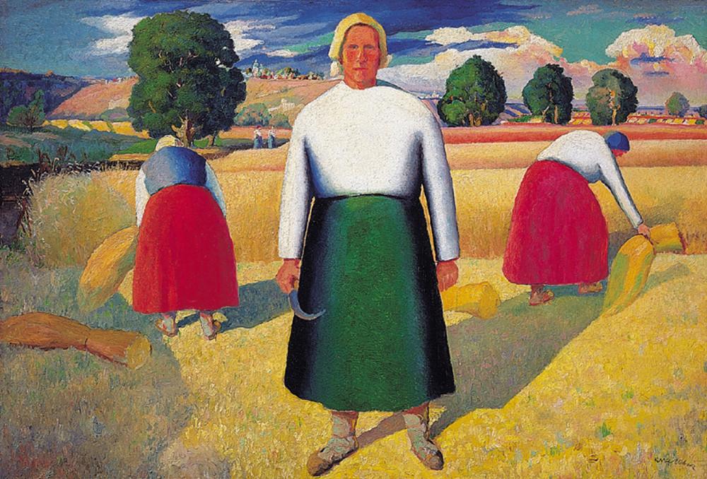 « Moissonneuses », par Kasimir Malevitch, 1928-1929