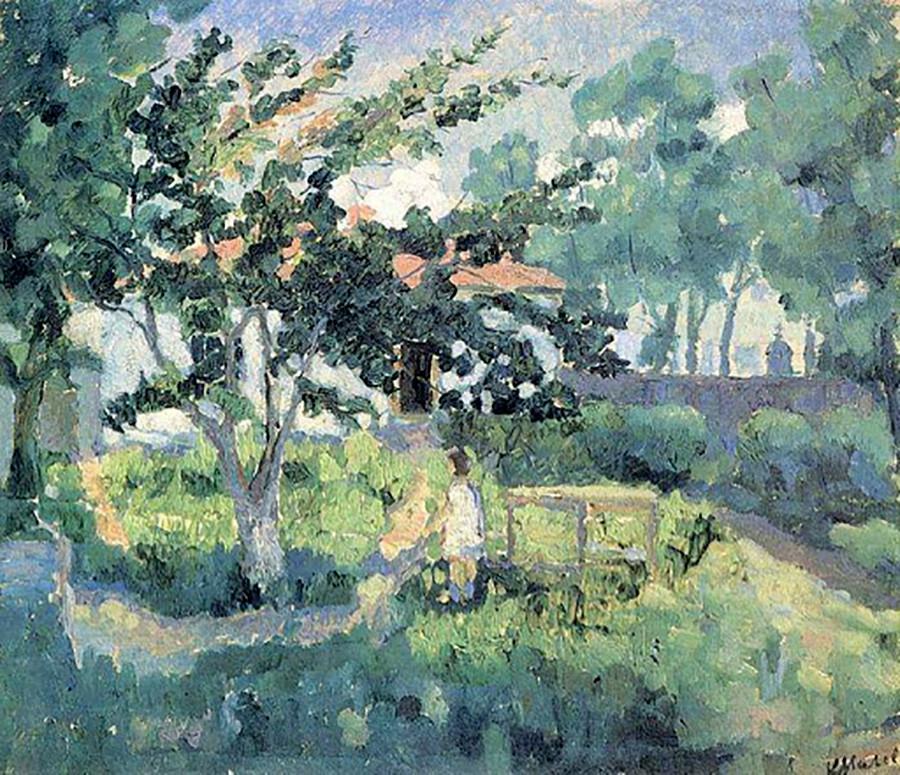 « Paysage estival », par Kasimir Malevitch, 1928-1929