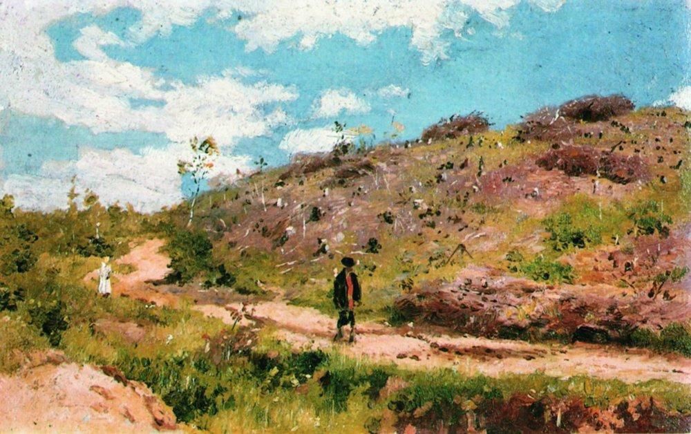 « Paysage estival dans le gouvernorat de Koursk. Étude », par Ilia Répine, 1915