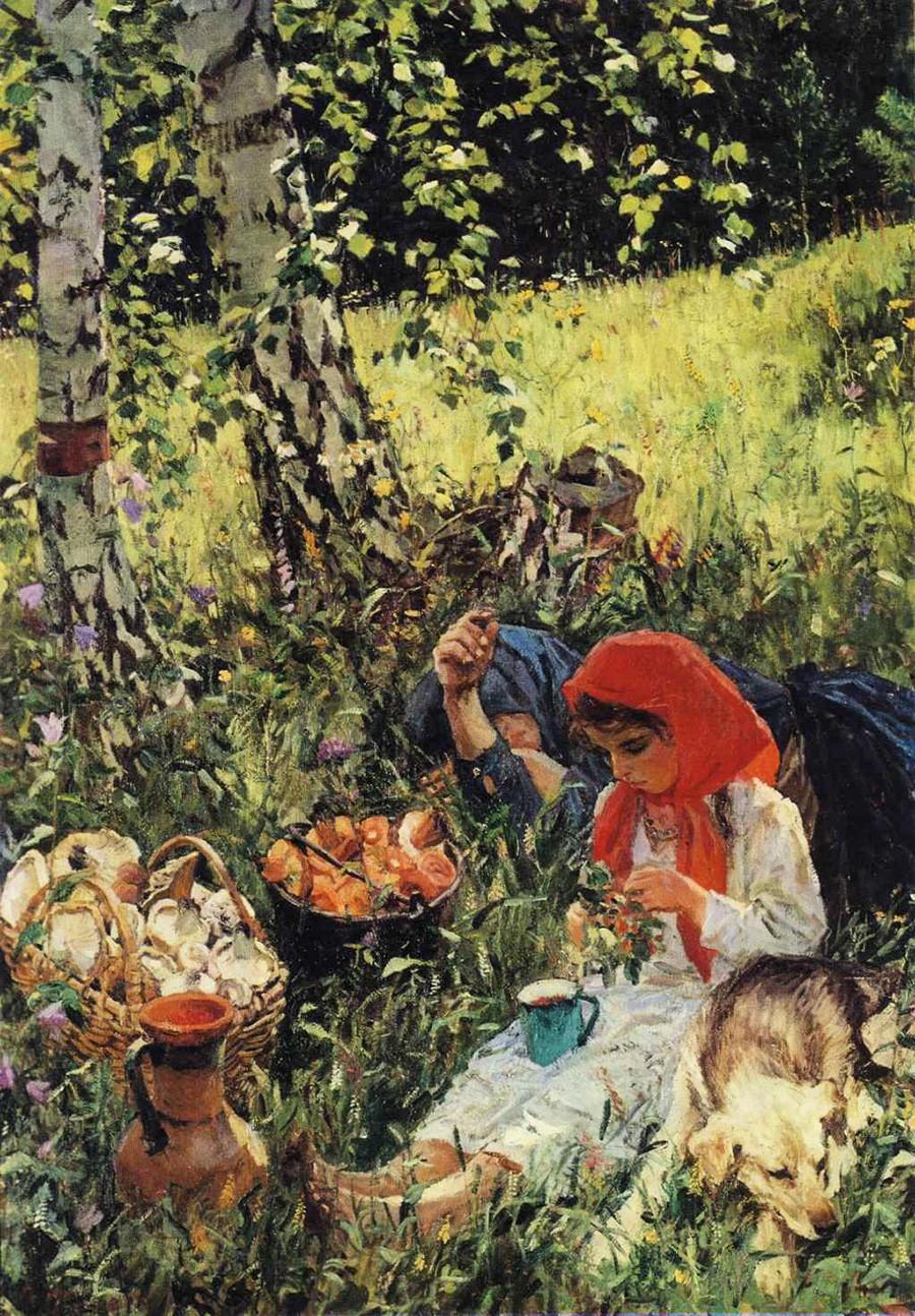 « En été », par Arkadi Plastov, 1954