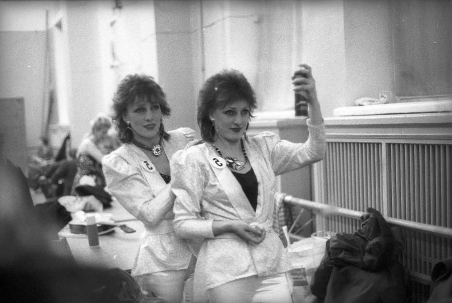 Competição de penteado, década de 1970