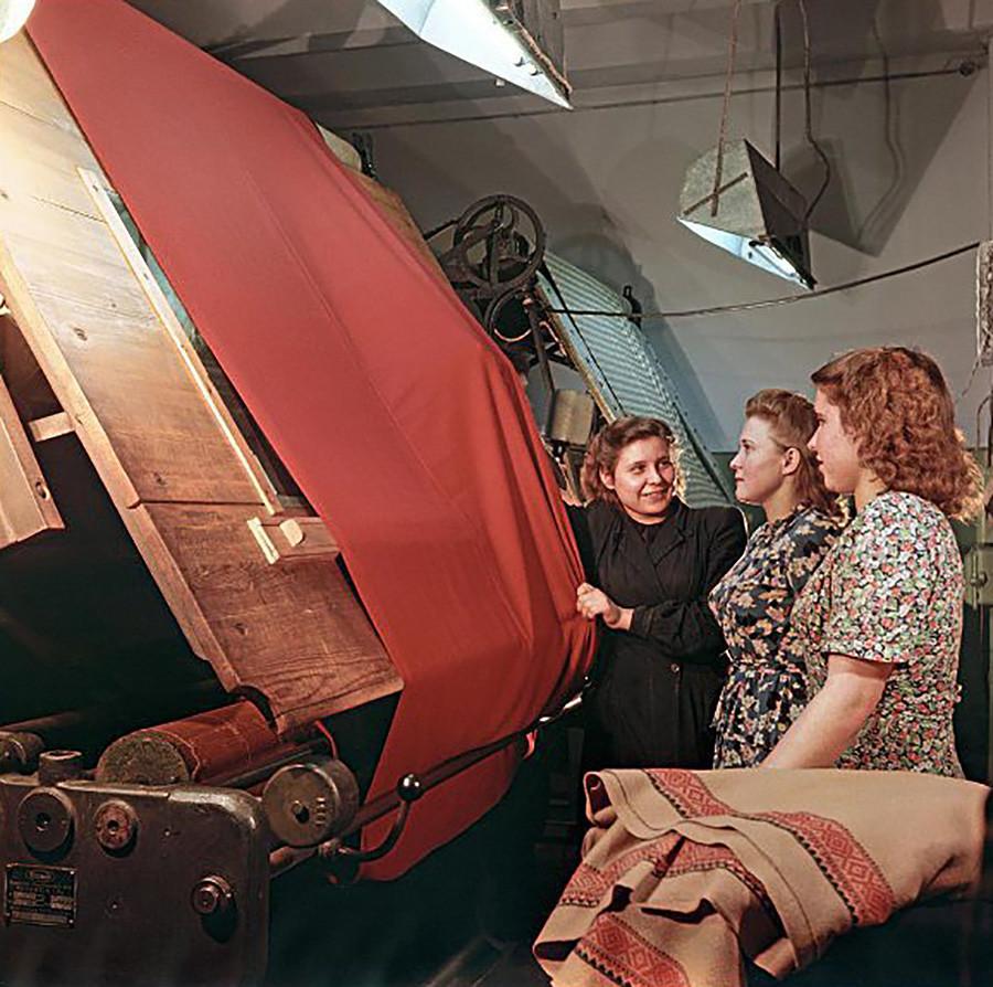 Fábrica de tecidos finos, 1953