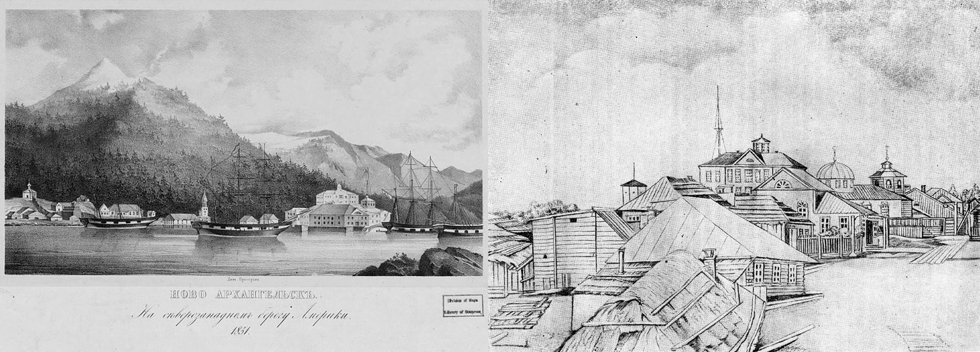 Novo-Arkhangelsk en 1851