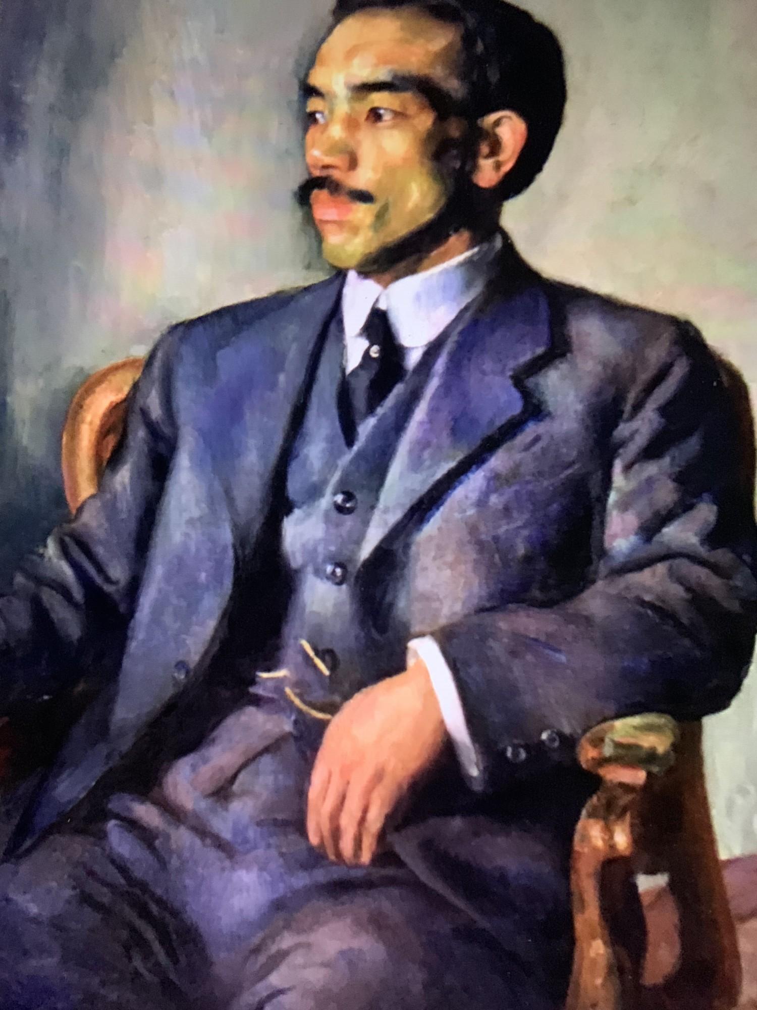 平田知夫領事の肖像画