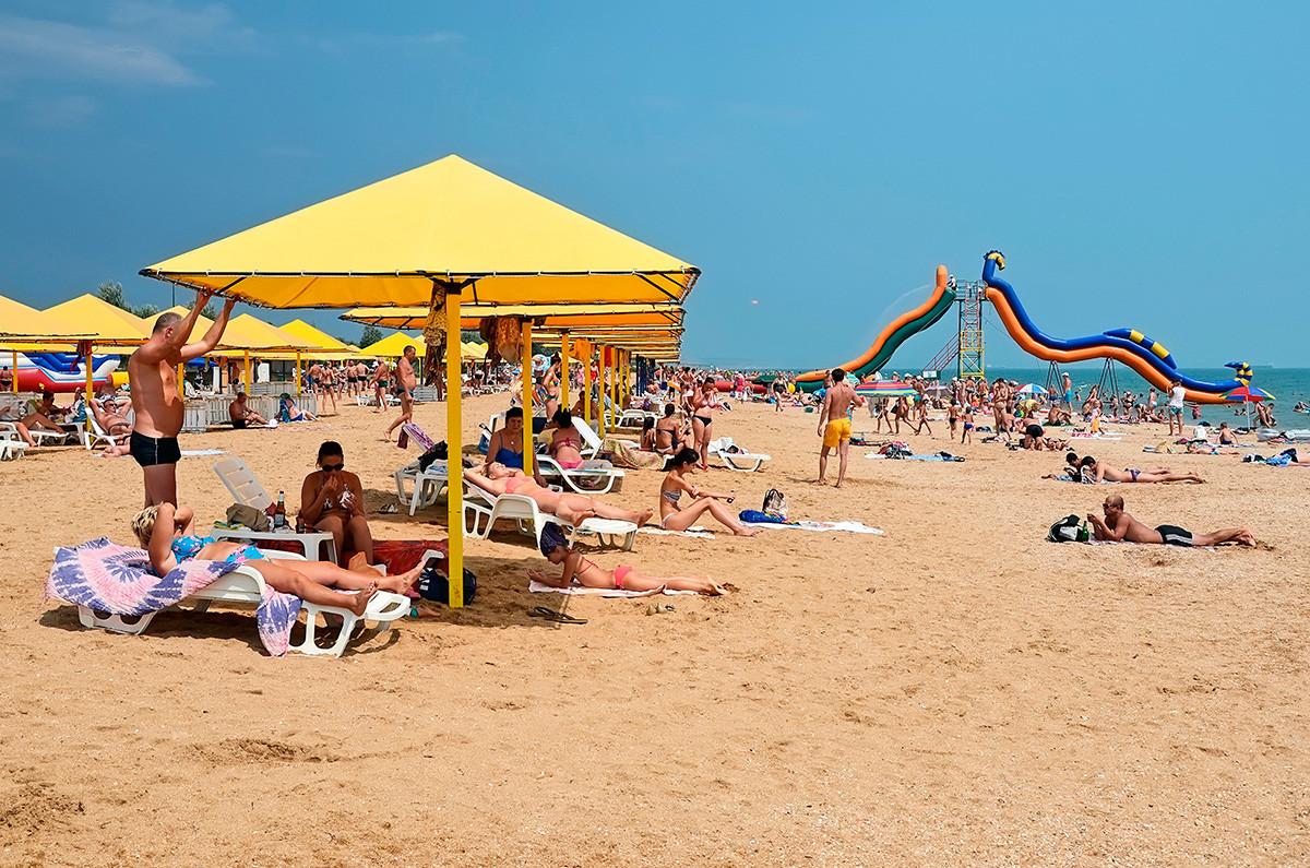 Salah satu pantai di Kerch.