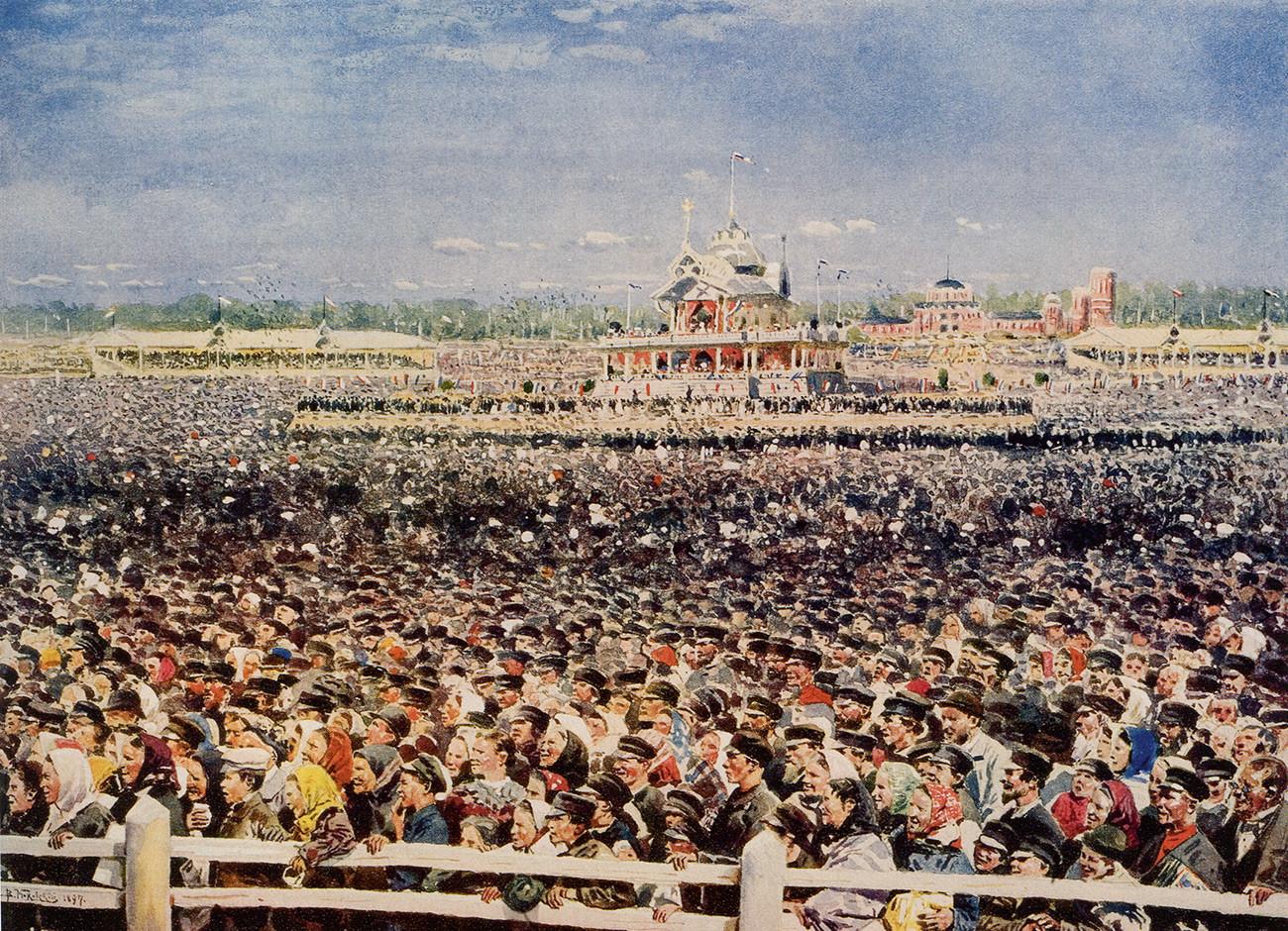 At the Khodynskoye field, May 1896.