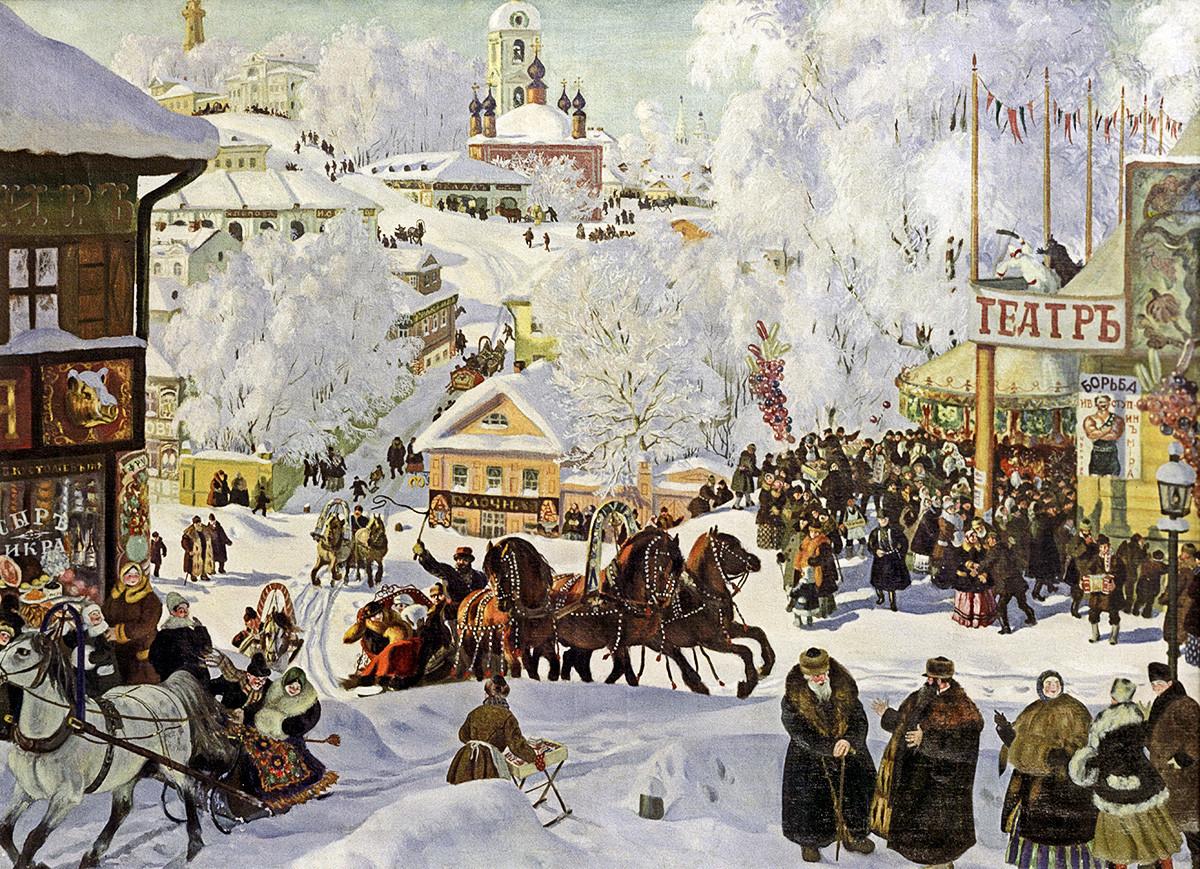 Borís Kustodiev, Máslenitsa, 1919.