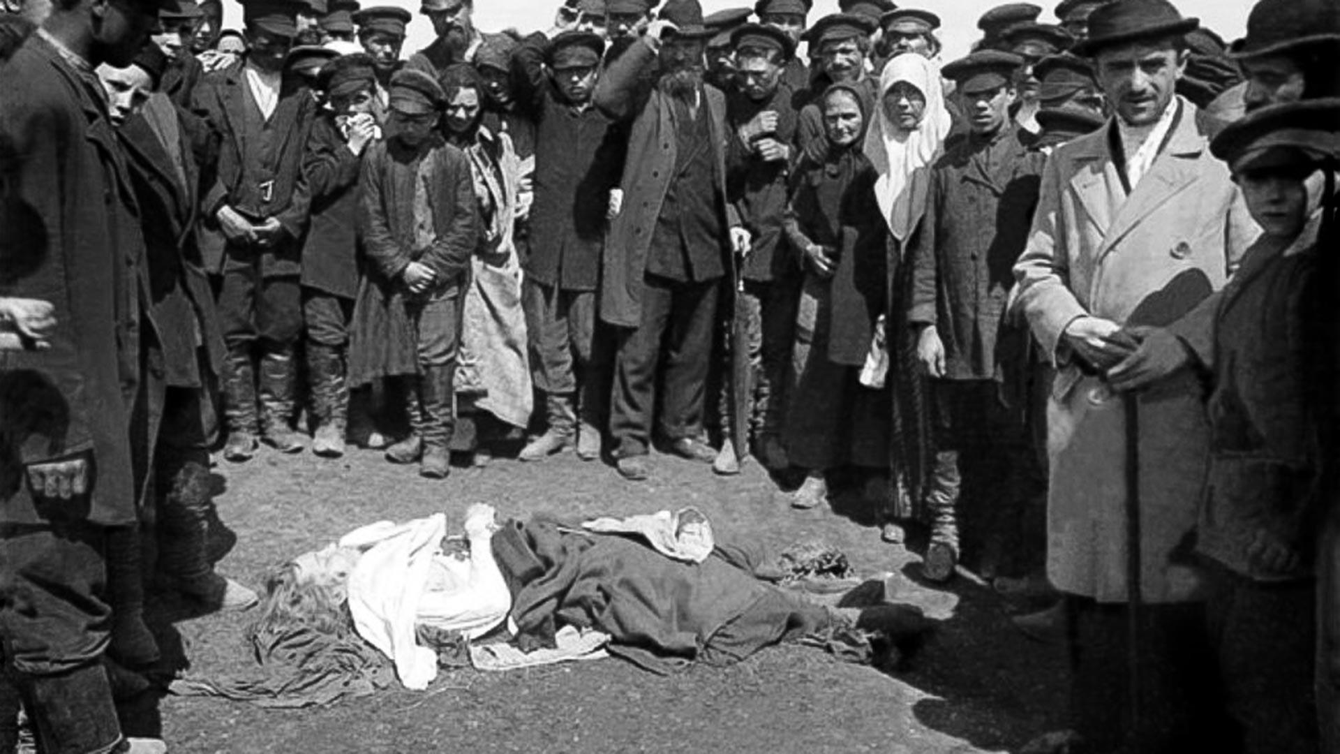 Une victime de la tragédie sur le champ de Khodynka, le 18 mai 1896