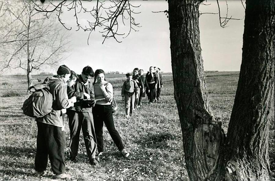 Ориентирование на местности, Татарстан, 1960-1965.