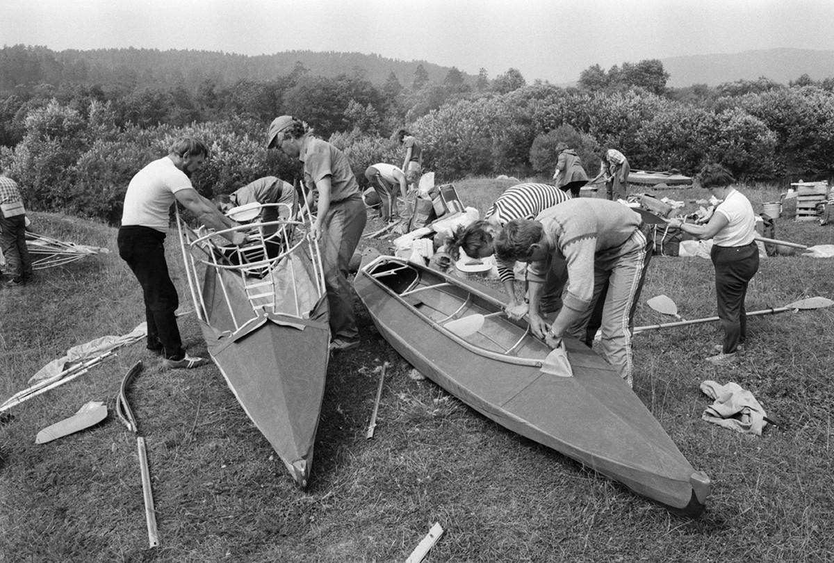 Турпоход по реке Ай, 1988.