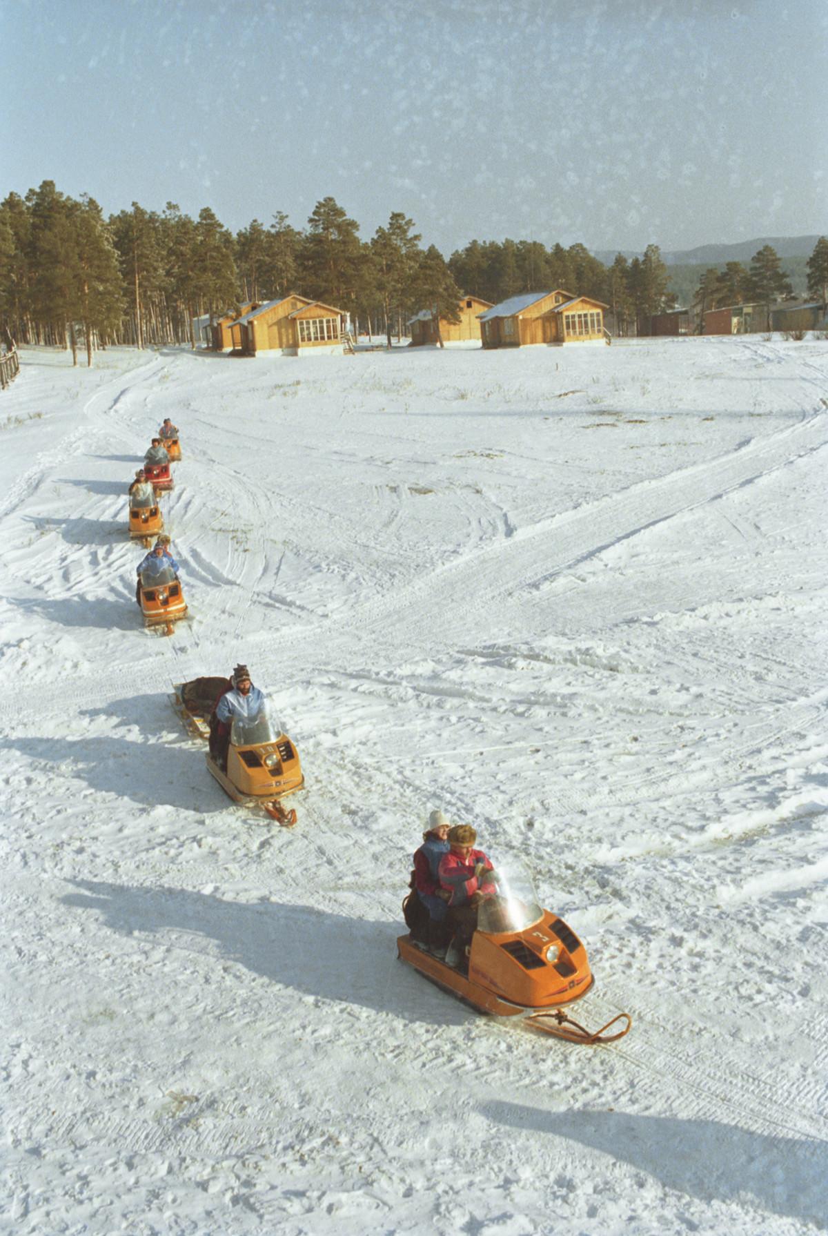 Зимно пътешествие из Башкирия на моторни шейни, 1989 г.