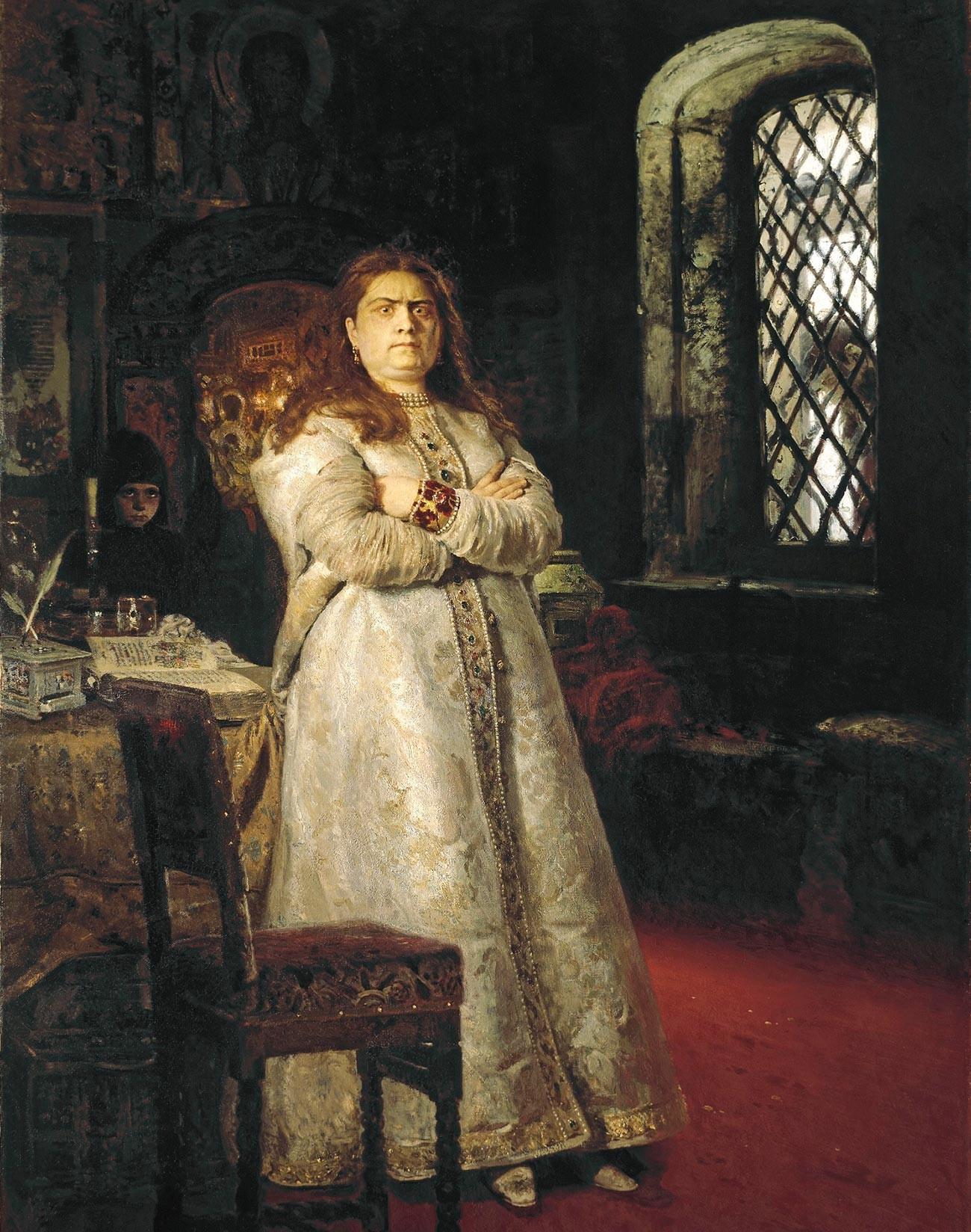 Ilya Repin. Tsarevna Sofya in the Novodevichy Convent