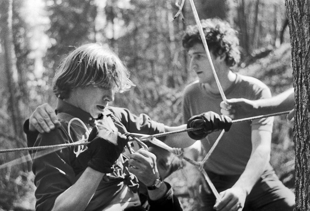 Hiking, 1980.