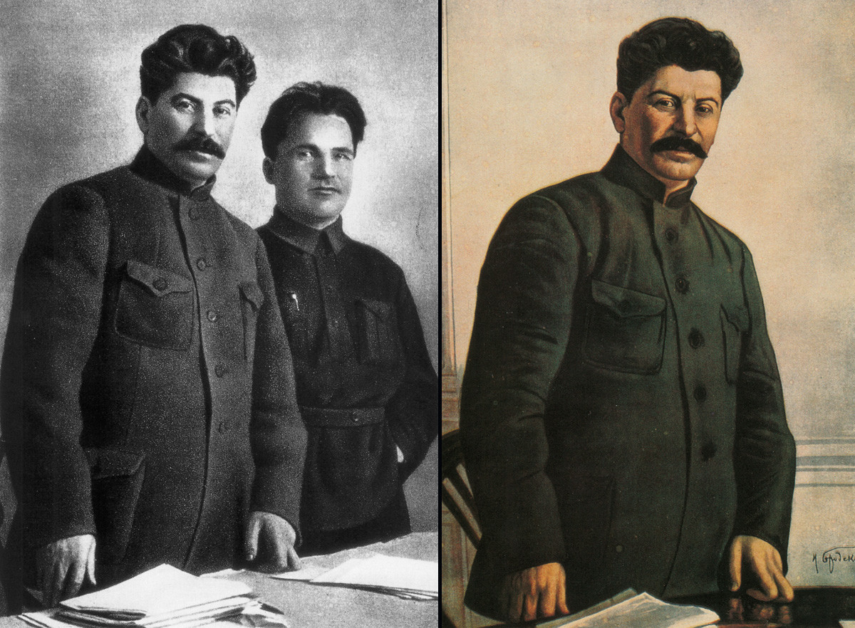 Joseph Staline accompagné de Sergueï Kirov \ Joseph Staline