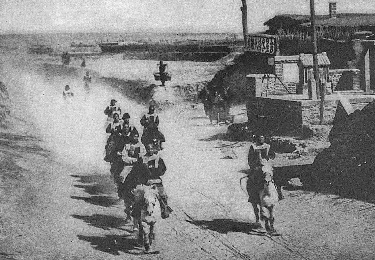 Кинеска банда на коњима за време битке код Мукдена (данас Шенјанг).
