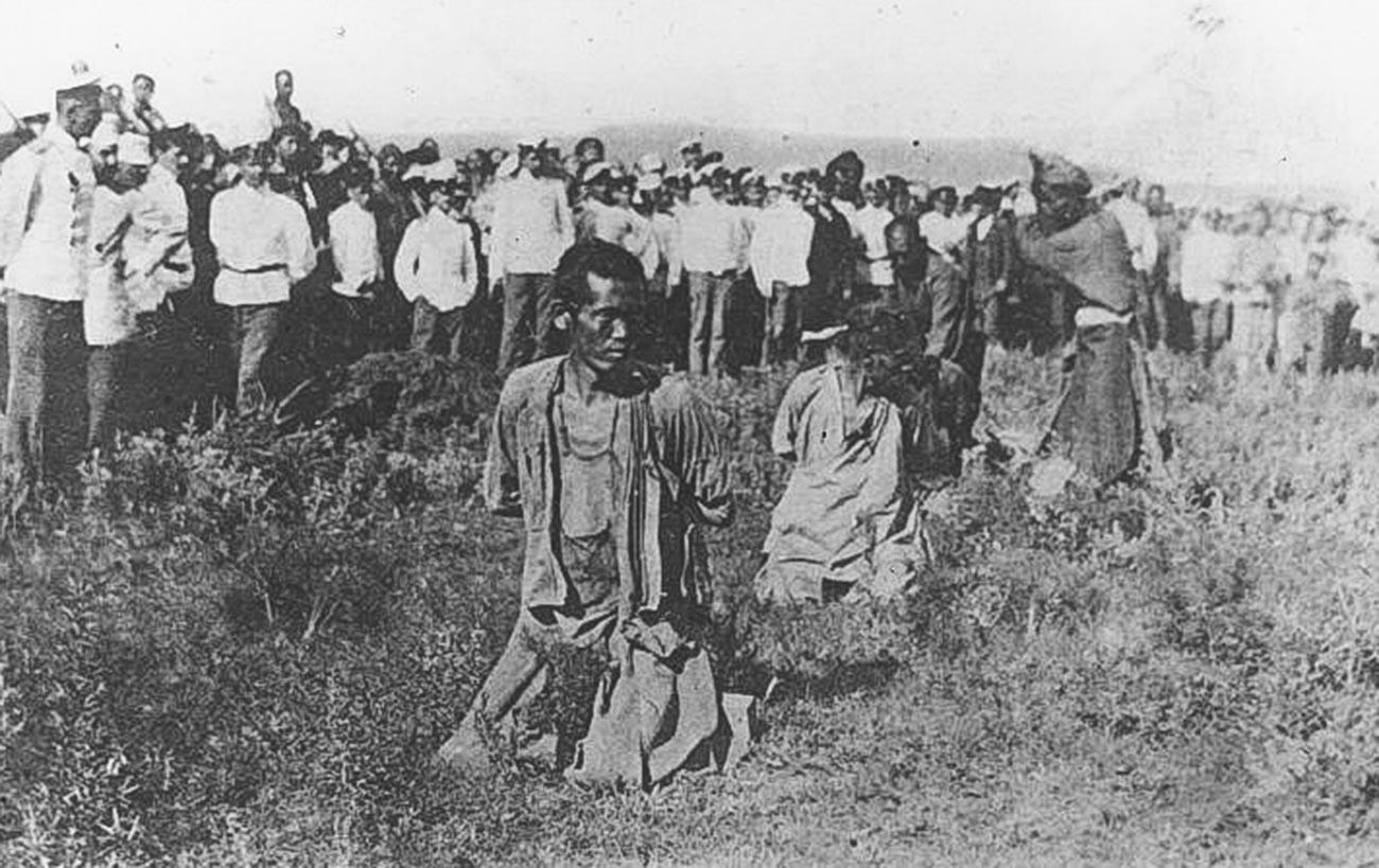 Руско-јапански рат. Погубљење хунхуза.