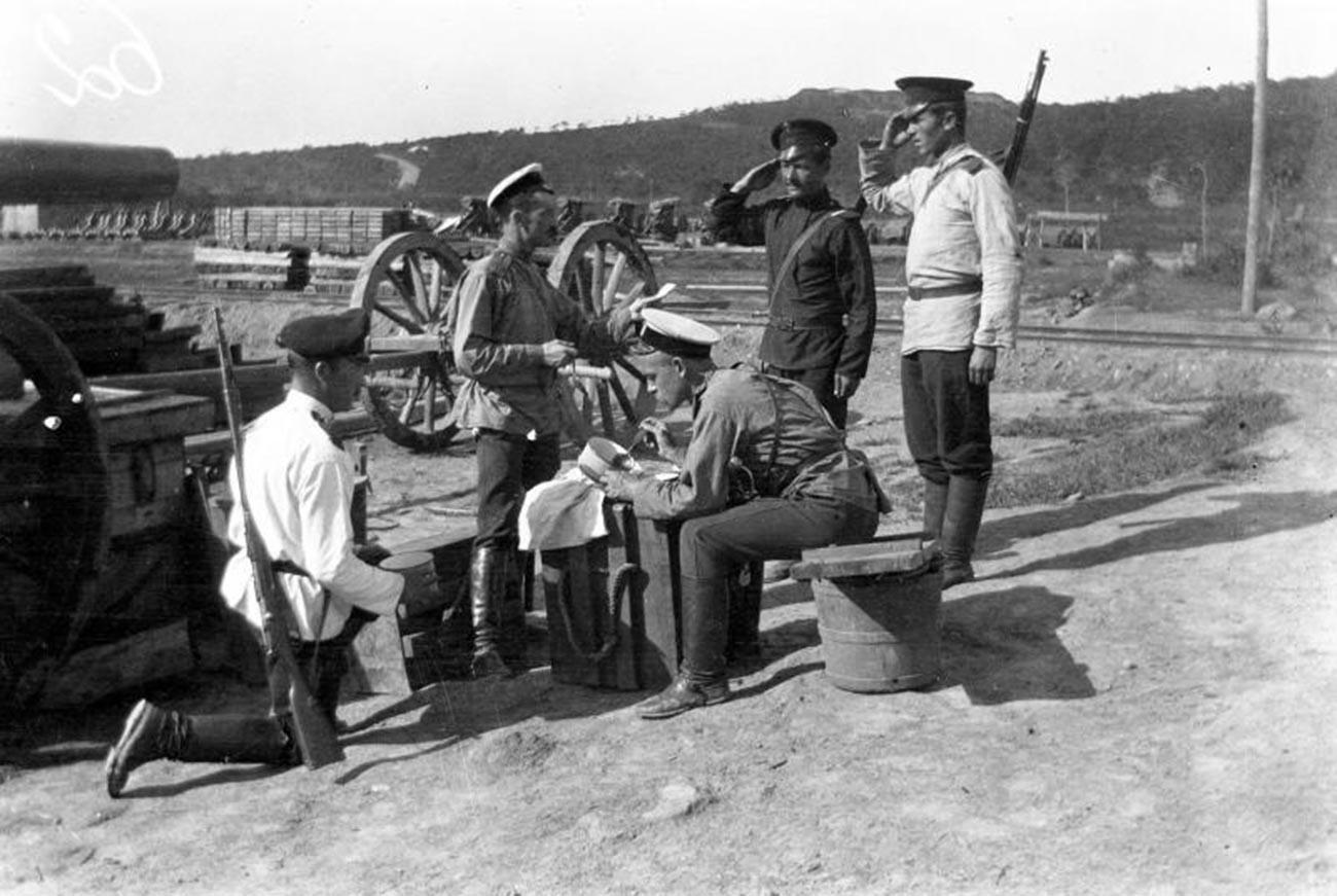 Руско-јапански рат. Ручак на стражарском месту.