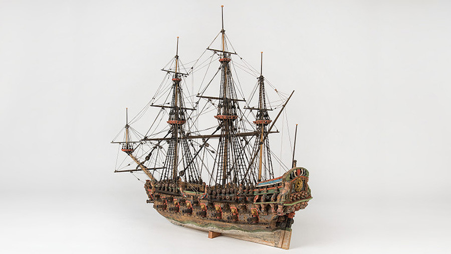 Model of 'The Solen,' a typical Swedish vessel of the Northern War
