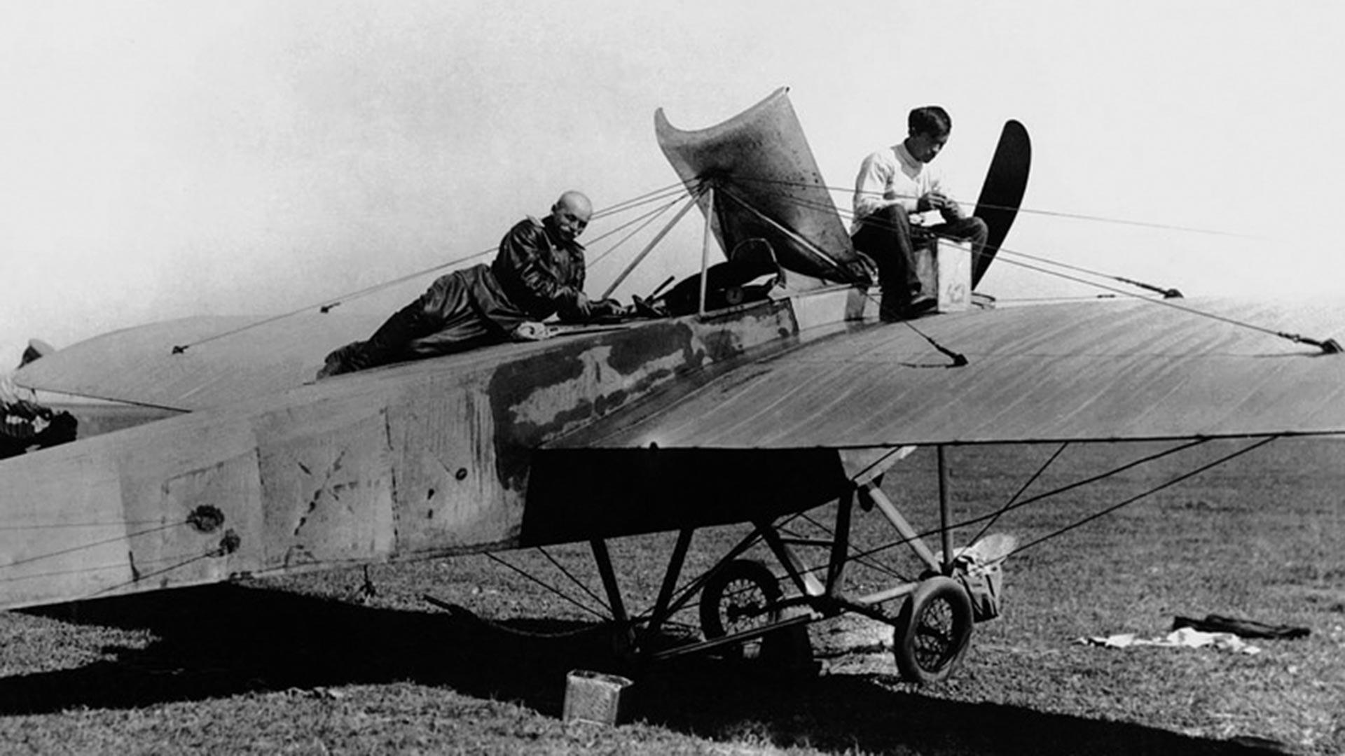 Première Guerre mondiale. Un avion de reconnaissance Nieuport IV