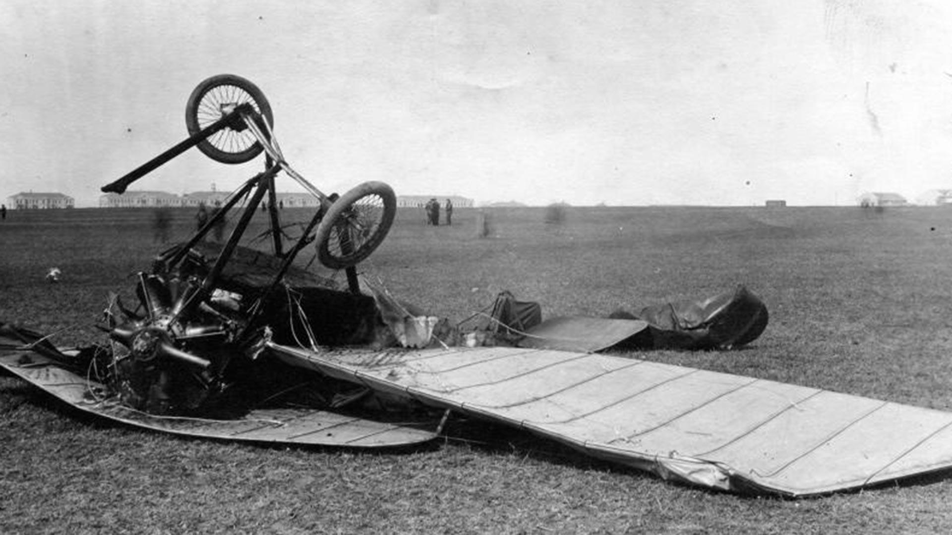 Un avion écrasé