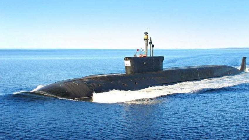 Руска подморница. Илустрација.