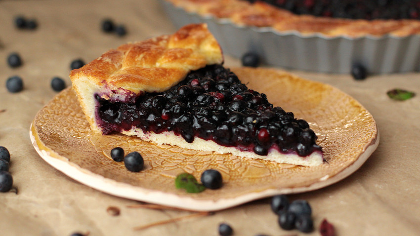 Your teatime will be served warmer with this homemade blueberry pie!