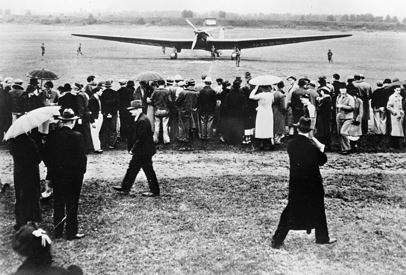 Letalo Valerija Čkalova, s katerim je izvedel let brez pristanka iz ZSSR v ZDA.