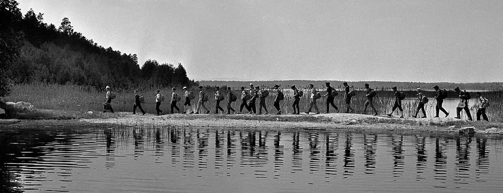 Senderismo en la región de Chelyabinsk, 1966.