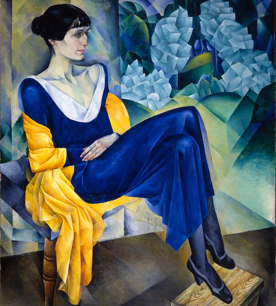 """""""Retrato de Anna Akhmatova"""", por Natan Altman."""