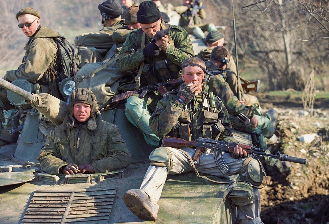 Troupes russes dans le Caucase durant les guerres de Tchétchénie