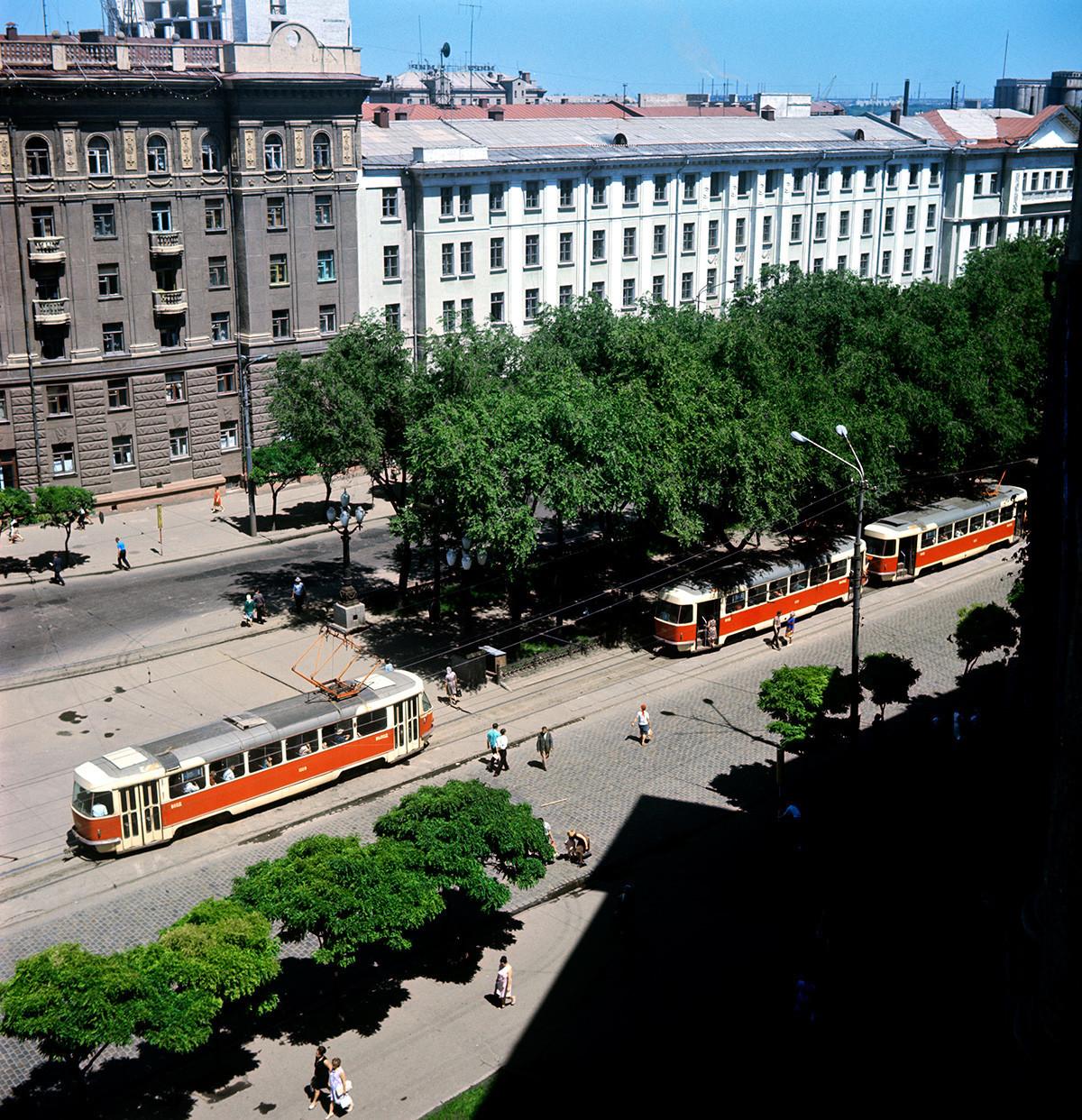 Улицата Дњепропетровскаја, 1970 година.