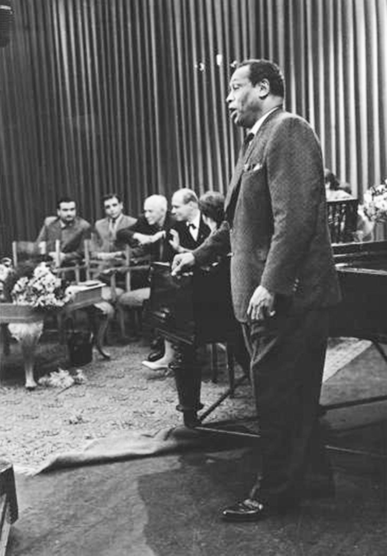 Koncert Paula Robesona v Moskvi, 1958